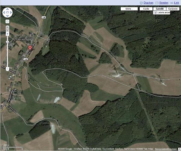 Der selbe Ausschnitt bei Google Maps!