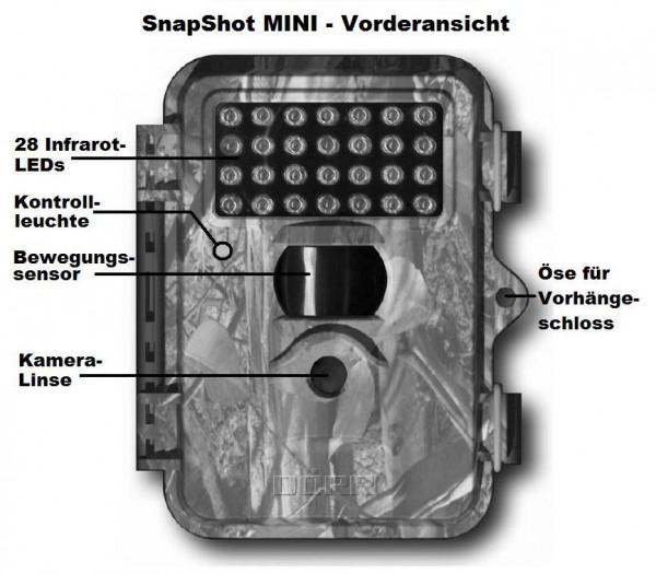 Vorderansicht der Dörr SnapShot MINI - Grafik: Dörr