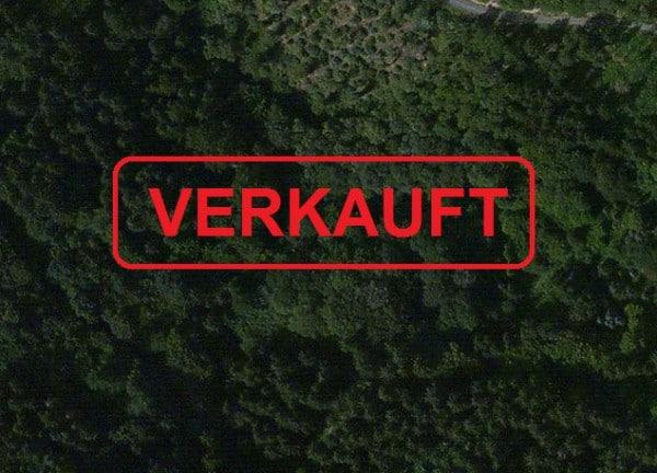 Waldstück in der Nähe von Monreal - Luftbild: Bing