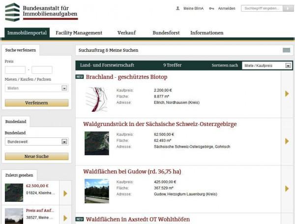 Immobilienportal der Bundesanstalt für Immobilienaufgaben