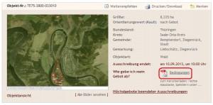 BVVG Bedingungen - Screenshot BVVG.de