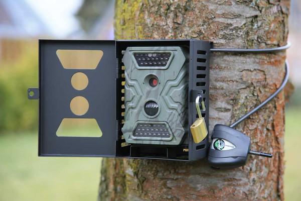 Maßgeschneidertes und sehr stabiles Metallgehäuse für einbe Wild Vision Full HD 5.0 - Bild: Wildkamera-Test.com