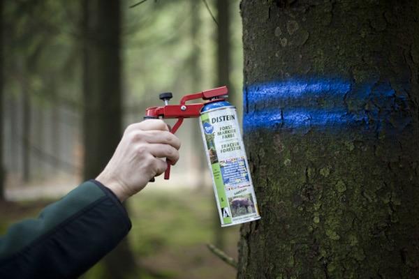 Metallsprühgriff für Forstmarkierfarbe - Foto: Distein