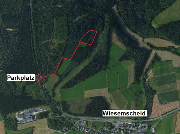 Luftbild mit Anfahrt - Bild: Bing