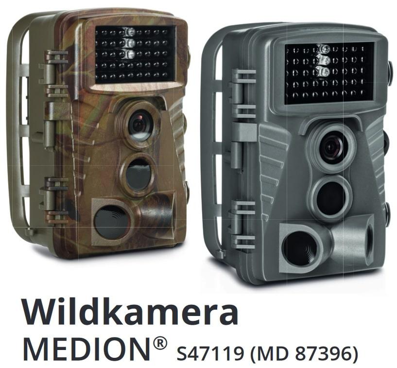 Die von ALDI vertriebene Medion Wildkamera - Bild: MEDION