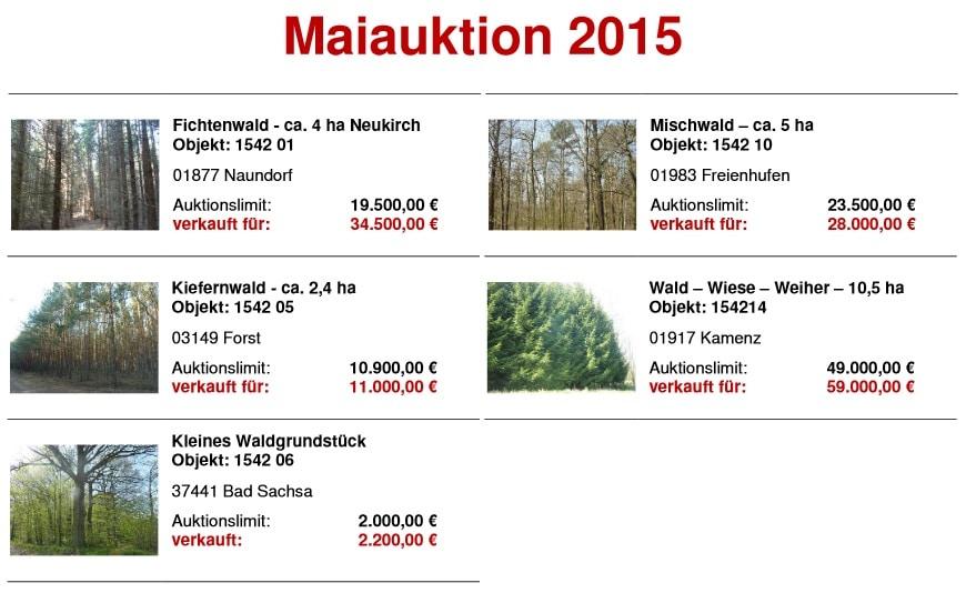 Maiauktion Hornig Wald 2015